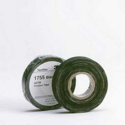 3M 1755-3/4X60FT 3M 1755-3/4X60FT-20RLS Temflex™ 1755 Series Economy Grade Friction Tape; 60 ft Length x 3/4 Inch Width x 13 mil Thick, Black