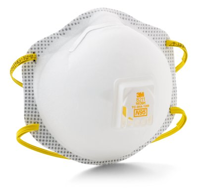 3M 8211 8211 3M PARTICULATE RESPIRATOR, N95 (EXHALATION VALVE, FACESEAL, M-NOS (Exhalation Valve, Faceseal, M-Ns