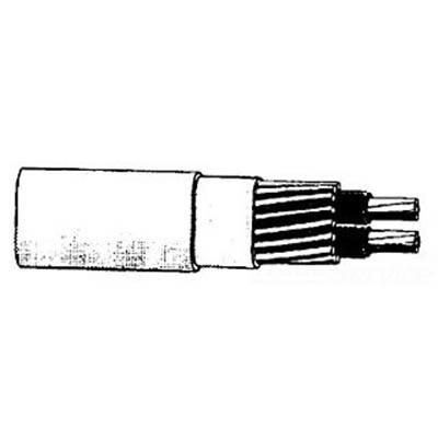 Aluminum Wire 4-3 URD VASSAR USE AL CABLE Aluminum Building Wire Vassar UD Cable; 4/3 AWG, Aluminum Conductor, 1000 ft Reel