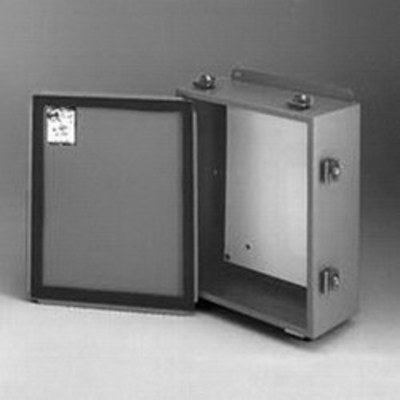 B-Line 12105-4LC Cooper B-Line 12105-4LC JIC Panel Enclosure; 16 Gauge Steel, ANSI 61 Gray, External Feet, Wall Mount, Lift-Off Cover