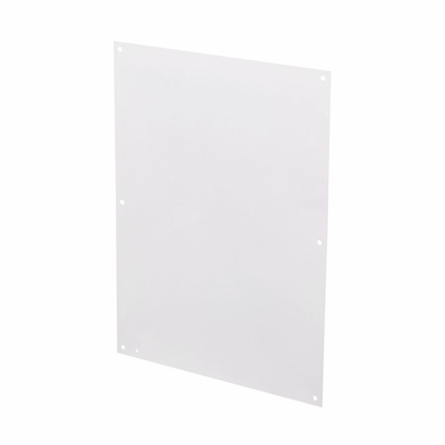 B-Line AW3630-1P Cooper B-Line AW3630-1P Flat Panel; 14 Gauge Steel, White, Powder Painted, Enclosure Mount, For 30 Inch Width x 36 Inch Height Nema 1 Medium Panel Enclosure