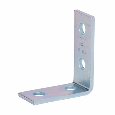 B-Line B104SS6 Cooper B-Line B104SS6 90 Degree Corner Angle Bracket; Steel, 316 Stainless Steel, (4) 9/16 Inch Hole Mounting