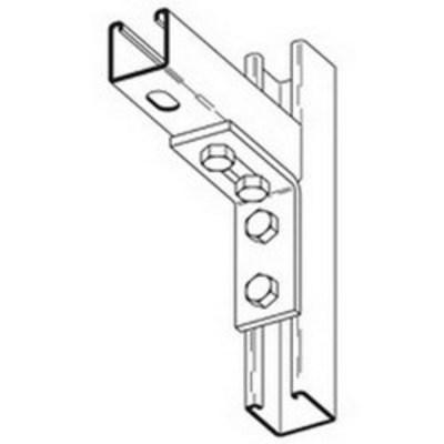 B-Line B104SS6 Cooper B-Line B104SS6 90 Degree Corner Angle Bracket; Steel, 316 Stainless Steel, (4) 9/16 Inch Hole Mounting
