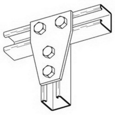 B-Line B136ZN Cooper B-Line B136ZN Gusset Connecting Plate; (4) Hole Mounting