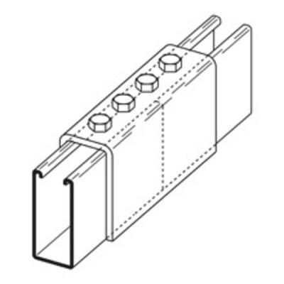 B-Line B172-12ZN Cooper B-Line B172-12ZN Splice Clevis; Steel, (4) 9/16 Inch Hole Mounting