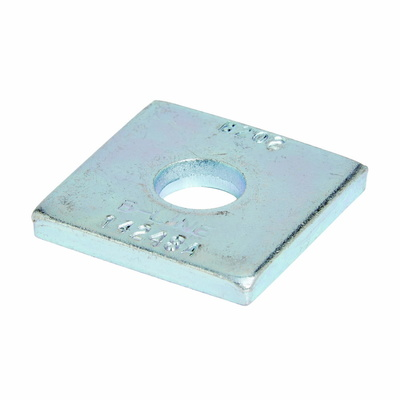 B-Line B201DZN Cooper B-Line B201D-ZN-3/8 No Twist 1-Hole Square Washer; 3/8 Inch Bolt Size, Steel, Zinc Electroplated
