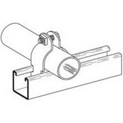 B-Line B2130ZN Cooper B-Line B2130-ZN B2000 Series Pipe Clamp; 10 Inch, 2-Piece, 11 Gauge Low Carbon Steel, Electro-Plated Zinc, 1000 lb Maximum Load