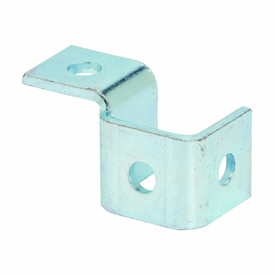 B-Line B270LZN Cooper B-Line B270LZN Four Hole Single Corner Wing Fitting; ASTM A907 Steel, Electro-Plated Zinc, (4) 9/16 Inch Hole Mounting