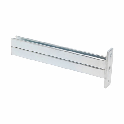 B-Line B297-12ZN Cooper B-Line B297-12-ZN Double Channel Bracket; Steel, (2) 9/16 Inch Dia Vertical Hole and (4) Horizontal Hole Mounting