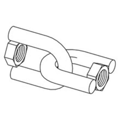 B-Line B446C-1/2ZN Cooper B-Line B446C-1/2-ZN Swivel Hanger; 1/2-13 Hex Nut, Electro-Plated Zinc Steel