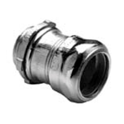 Bridgeport Fittings 251-I Bridgeport 251-I Insulated Throat EMT Compression Connector with Insulated Throat, 3/4 inch, Steel, Zinc Electroplated