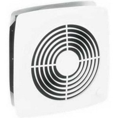 Broan - Fans 510 Broan Nu-Tone 510 Square 10 Inch Room-To-Room Fan; 120 Volt, 1550 RPM, 380 cfm, White, Wall Mount