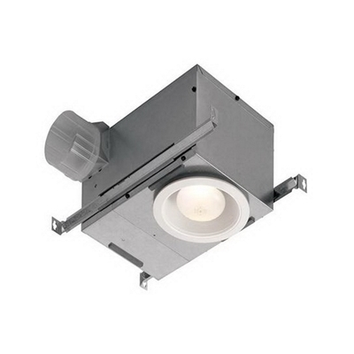 Broan - Fans 744NT Broan Nu-Tone 744NT Recessed Ventilation Fan/Light; 120 Volt, 1.2 Amp, 70 cfm At 0.10 Inch/55 cfm At 0.25 Inch, 1.5 Sones, 4 Inch Duct, Ceiling Mount, Matte White