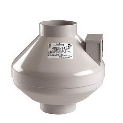 Broan - Fans ILF120 Nutone ILF120 InLine FanNutone110 Cfm115 Vac037 Amp4 In Rnd Duct