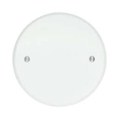 Bwf Manufacturing, Inc CC-4WV BWF/Teddico CC-4WV Flat with Beveled Edge Weatherproof Ceiling Outlet Cover; Round, Box Mount, Stamped Aluminum, Powder-Coated, White