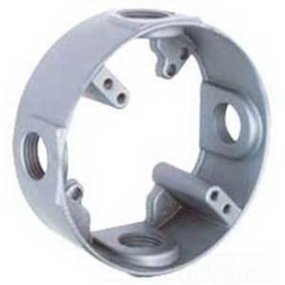 Bwf Manufacturing, Inc EX-5V BWF/Teddico EX-5V Round Outlet Box Extension; 4-9/16 Inch Width x 2 Inch Depth x 4-5/8 Inch Height, Die-Cast Metal, 18.3 Cubic-Inch