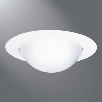 Cooper Lighting Fixture Lumark 172PS Cooper Lighting 172PS Air-Tite® Halo® Ceiling Mount 6 Inch Trim Ring With Dome Lens and Reflector; White