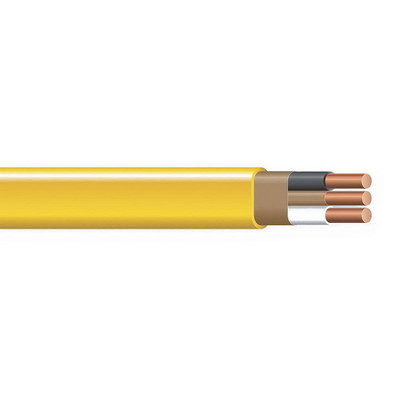 Copper Wire NMB-W/GRD-14/2 CU CABLE 250FT COIL Copper Building Wire NM Sheathed Cable With Grounding; 14/2 AWG, Solid, Copper Conductor, White, 250 ft Coil