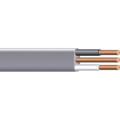 Copper Wire UF-14/3 W/GRD CU CABLE RCL Copper Building Wire UF-NMCB Cable With Grounding; 14/3 AWG, Copper Conductor, Reel/Coil