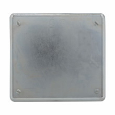 Crouse Hinds S1002 Crouse-Hinds S1002 Two Gang Blank Receptacle Cover, Steel