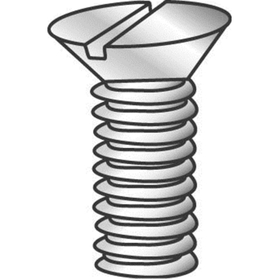 Cully Fasteners Minerallac 50132J 50132J CULLY 6-32 X 2 FHMS SLOT ZP