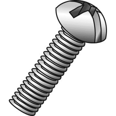 Cully Fasteners Minerallac 52232J 52232J CULLY 6-32 X 2 RHMS SLOT/PHI