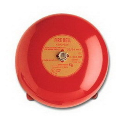 Edwards Signaling Devices 438D-8N5-R Edwards 438D-8N5-R 430D Series Vibrating Fire Alarm Bell; 8 Inch, 120 Volt AC, 95 DB At 1 m, 85 DB At 10 ft, Red