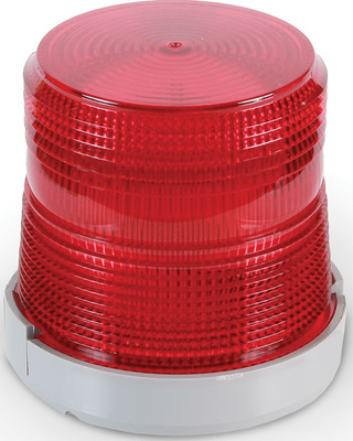 Edwards Signaling Devices 96BR-N5 Edwards 96BR-N5 96 Series Light Duty Flashing Xenon Beacon Strobe Light; 120 Volt AC, 0.1 Amp, Red, 1/2 Inch NPT Conduit Mount