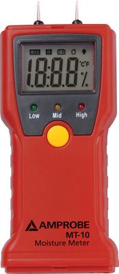 Fluke Corporation - Meters MT-10 Fluke MT-10 Moisture Meter; 8 - 60% Wood/0.3 - 2.0% Building Material, 0.10% Wood/0.01% Building Material Resolution