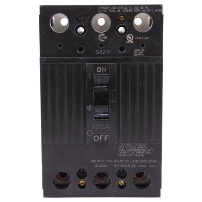 GE Distribution TQD32125 GE Distribution TQD32125 Molded Case Circuit Breaker; 125 Amp, 240 Volt AC, 3-Pole