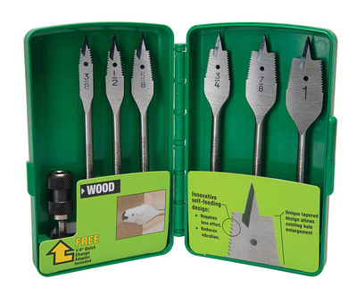 Greenlee Tools 34AR-6 Greenlee 34AR-6 Self-Feeding Spade Drill Bit Kit; 3/4 x 6 Inch, Steel