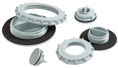 HOFFMAN ENCLOSURES ASPB100125NM Hoffman ASPB100125NM Hol-Sealers™ Non-Metallic Hole Seal; Plastic