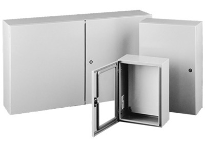 HOFFMAN ENCLOSURES CSD603612 Hoffman Pentair CSD603612 Concept™ Solid Single Door 3-Point Latch Style Quarter-Turn Slotted Latch Electrical Enclosure; 14 Gauge Steel, ANSI 61 Gray, Wall Mount, Hinged Cover