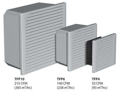 HOFFMAN ENCLOSURES TFP42SS Hoffman TFP42SS TFP4 Series Filter Fan; 230 Volt, RAL 7035 Light Gray, 45 cfm At 50 Hz, 55 cfm At 60 Hz; Side Mount