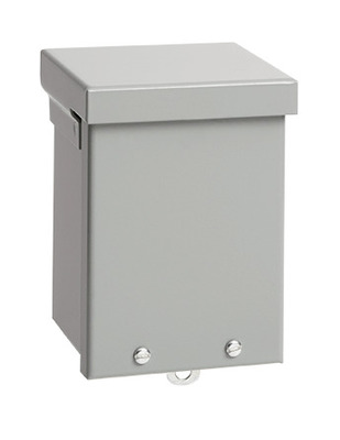 Hoffman Enclosures A10R104NK Hoffman A10R104NK A Style Body Enclosure; 4 Inch Depth, 16, 14 Or 12 Gauge Galvanized Steel, ANSI 61 Gray, Wall Mount, Screw-On Cover