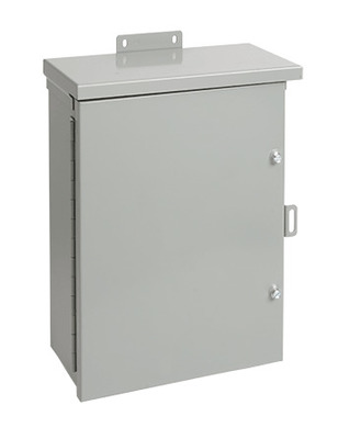 Hoffman Enclosures A30R3012HCR Hoffman Pentair A30R3012HCR Solid Single Door Medium Equipment Protection Enclosure; 14 or 16 Gauge Galvanized Steel, ANSI 61 Gray, Wall Mount, Hinged/Padlocking Cover