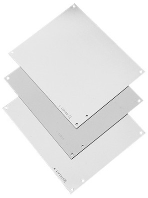 Hoffman Enclosures A6P6G Hoffman A6P6G Panel; 14 Gauge Steel, White, For Junction Box/Enclosure