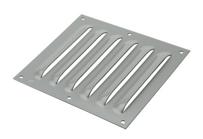 Hoffman Enclosures AVK44 Hoffman AVK44 Louver Plate Kit; 14 Gauge Steel, Polyester Powder-Coated Over Phosphatized Surface, Gray