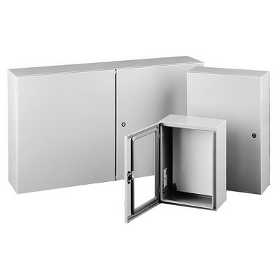 Hoffman Enclosures CSD20166 Hoffman Pentair CSD20166 Concept™ Solid Single Door Quarter-Turn Latch Style Electrical Enclosure; 16 or 18 Gauge Steel, ANSI 61 Gray, Wall Mount, Hinged Cover