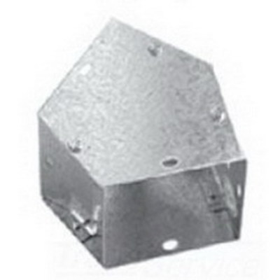 Hoffman Enclosures F66G45E Hoffman Pentair F66G45E 45 Degree Elbow For Wireway; 6 Inch x 6 Inch, Steel
