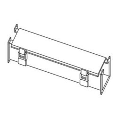 Hoffman Enclosures F66L36 Hoffman F66L36 Straight Section; 36 Inch x 6 Inch x 7.620 Inch, 14 Gauge Steel, ANSI 61 Gray