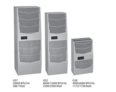 Hoffman Enclosures G521246G100 Hoffman G521246G100 SPECTRACOOL™ G52 Air Conditioner Without Heat Package; 400/460 Volt, 3.6/3.5 Amp Nominal/16 Amp Starting, 12000 BTU/Hour, 3 Phase, RAL 7035 Light Gray