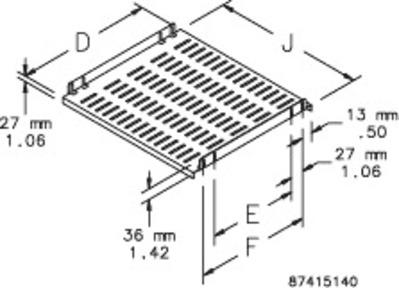 Hoffman Enclosures P19SH6 Hoffman P19SH6 Fixed Shelf 19 600mm