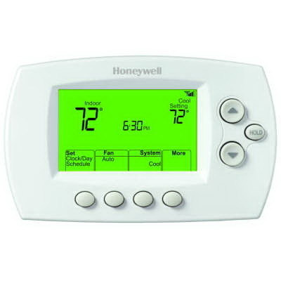 Honeywell Thermostats TH6320WF1005/U Honeywell TH6320WF1005 Wi-Fi FocusPRO® Auto/Manual Selectable 7-Day Programmable Thermostat; 20 - 30 Volt AC, Heat: 4.5 to 32 deg C; Cool: 10 to 37 deg C, Premier White