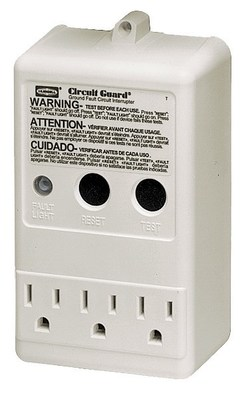 Hubbell Wiring Devices GFP315A Hubbell GFP315A Wiring Device-Kellems GFCI, Multioutlet, Plug