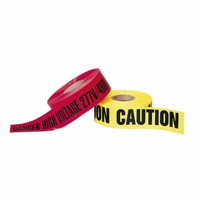 Ideal 42-051 Ideal 42-051 1010144 Barricade Tape; 1000 ft x 3 Inch x 4 mil, Danger, Polyethylene, Black On Red Background