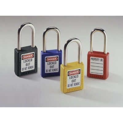 Ideal 44-916 Ideal 44-916 Keyed-Alike Safety Lockout Padlock; Xenoy Body, Steel Shackle, Red