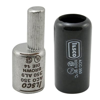 Ilsco ACO-1000 Ilsco ACO-1000 Clear Choice Compression Adaptor; 750 - 1000 KCMIL, High Strength Aluminum Alloy, 600 Volt