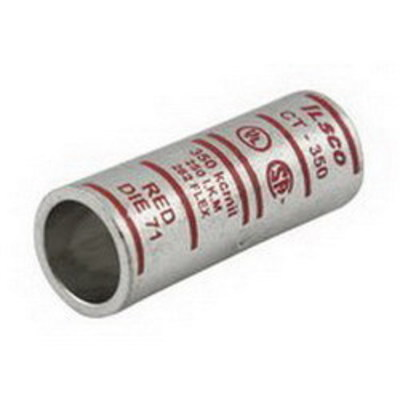 Ilsco CT-3 Ilsco CT-3 SureCrimp® Short Barrel Compression Sleeve; 3 AWG, White