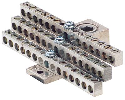 Ilsco NB-350-36 Ilsco NB-350-36 Ground Bar; Electro Tin-Plated, 36 Circuit Tap